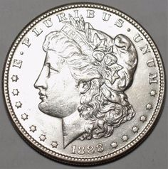 1888-S $1 Morgan Silver Dollar-AU+, details-San Francisco-Free USA Shipping