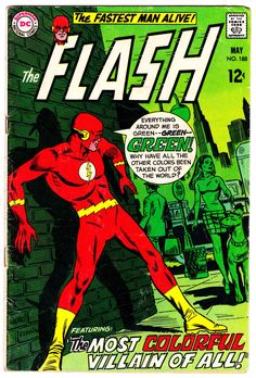 Comic Book Covers : The Flash<<  Personally, I found this issue to be really good despite the fact that green is not a creative color.