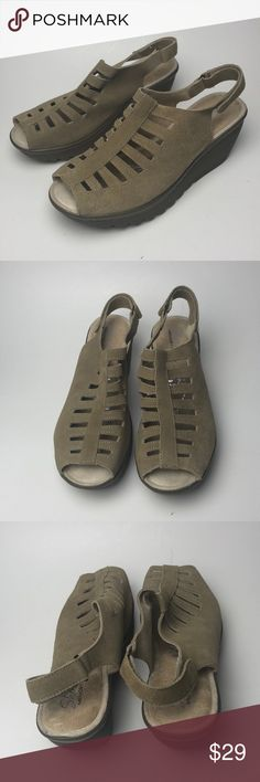56235bffb76 Skechers Parallel Trapezoid Wedge Sandal Item is new without tags or box.  Suede leather in
