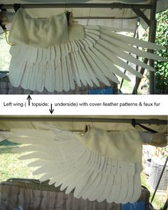 Since I promised to finish her wings first, here's what we've been working on for the last 3 days (on & off, anyways - there was a Rodeo somewhere in there...). Primary/Secondary feathers &...