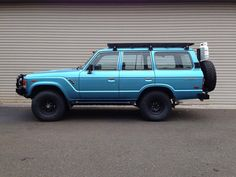 FJ60 - Non factory Blue -- I love this so much it hurts, and so does my cat, Pepe.