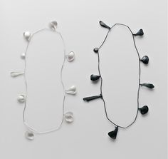 Diy Jewelry : Bloom, 2013 Neckpiece – Sterling Silver, Sterling Silver blackened -Read More –
