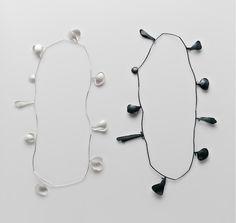 Leslie Matthews - Bloom, 2013 Neckpiece – Sterling Silver, Sterling Silver blackened