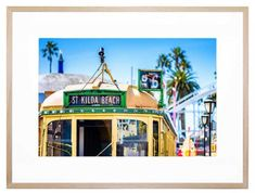 #Melbourneprint#tram#beach