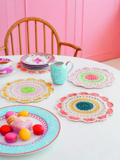 Dashing Doilies from Debbie Bliss Crochet Living | Laughing Hens #crochedoily #crochetdesigner #crochetbook