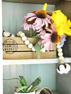 How to style wood bead garlands. - The Pickled Rose Wood Bead Garland, Beaded Garland, Garlands, Crystal Furniture, Bead Crafts, Diy Crafts, Wooden Beads, Furniture Decor, Coffee Cups