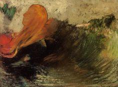 La Mort d'Ophélie, Odilon Redon