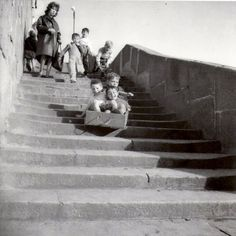 Children's playing, Ribeira, Porto, Portugal - by Teófilo Rego Robert Doisneau, Photo Vintage, Vintage Photos, Antique Photos, Old Pictures, Old Photos, Vintage Photography, Street Photography, Manchester Street