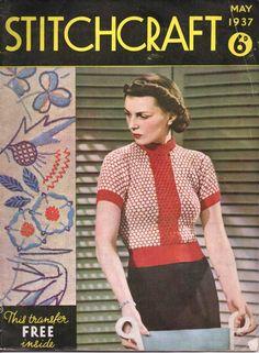 Stitchcraft May 1937 free vintage knitting pattern