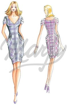 Model 2179 | Sewing Pattern Dress