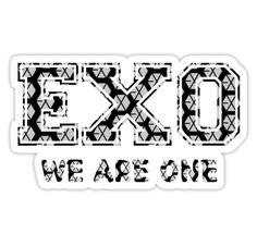 'EXO' Sticker by nurfzr Exo Stickers, Printable Stickers, Laptop Stickers, Kyungsoo, Chanyeol, Exo Anime, Baekhyun Wallpaper, Kpop Exo, Chinese Boy