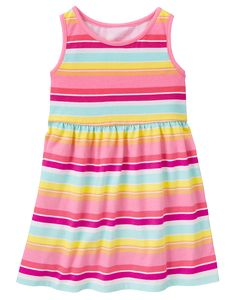 8c0aab7d172b Toddler Girls Neon Stripe Striped Dress by Gymboree Toddler Girl Outfits