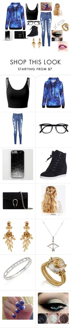 """""""Going Out Clothing"""" by taylorandgauge on Polyvore featuring beauty, Doublju, Tommy Hilfiger, Gucci, ASOS, Oscar de la Renta, Feathered Soul, Messika, SoGloss and Jouer"""