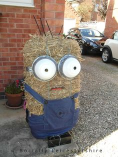 minion, whole hay bale. so doing this for halloween!