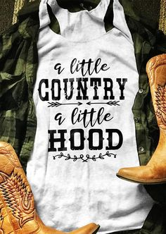 About Little Country Little Hood Tank Top This tank top is Made To Order, we print one by one so we can control the quality. We use DTG Technology to print Little Country Little Hood Tank Top Country Shirts, Country Outfits, Country Tank Tops, Country Fashion, T Shirt Custom, Vinyl Shirts, Diy Shirt, Shirts With Sayings, Cute Shirts