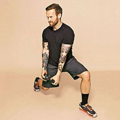 Work your shoulders, arms, obliques and legs in the Lever Lunge from Bob Harper's #workout!