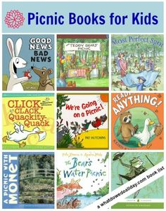 Take these books along on your next picnic!