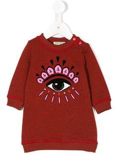 591670745bb Kenzo Kids Eye Embroidered Sweatshirt Dress - Farfetch