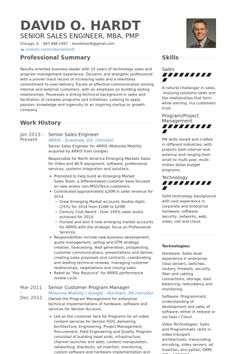 senior sales engineer resume example - Mechanical Engineering Resume Template
