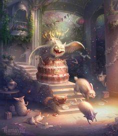 Demiart Birthday by cornacchia-art.deviantart.com on @deviantART