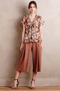 Tied Silk Top - #anthrofave