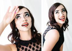 Amazing Halloween hair and makeup tutorials to inspire you and your costume this Halloween! Perfect Halloween hair and Halloween makeup costume ideas. Halloween Hair, Halloween Make Up, Halloween Costumes, Halloween Face Makeup, Halloween Ideas, Comic Book Makeup, Adult Face Painting, Troll Costume, Pop Art