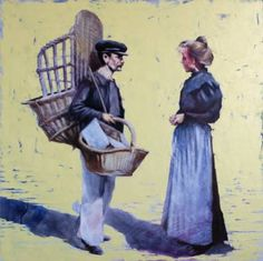 "Saatchi Art Artist Igor Shulman; Painting, ""Seller baskets"" #art"