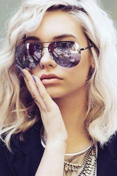 Quay Muse Black Purple Mirror Sunglasses