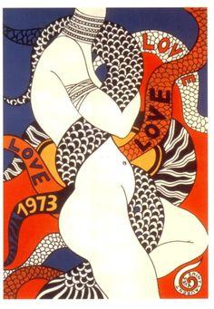 Yves Saint Laurent, LOVE, 1973 • More