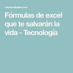 Fórmulas de excel que te salvarán la vida - Tecnología Excel Formulas, Microsoft Excel, English Class, Study Tips, Language, Hacks, Learning, Words, Internet