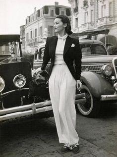 Pantalon Schiaparelli, Cannes, avril 1939, Seeberger Frères
