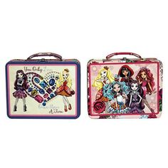 Ever After High Large Embossed Tin Lunch Box Case
