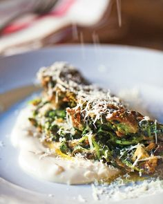Spinach-Nettle Omelet with Onion Soubise Recipe | Cooking | How To | Martha Stewart Recipes