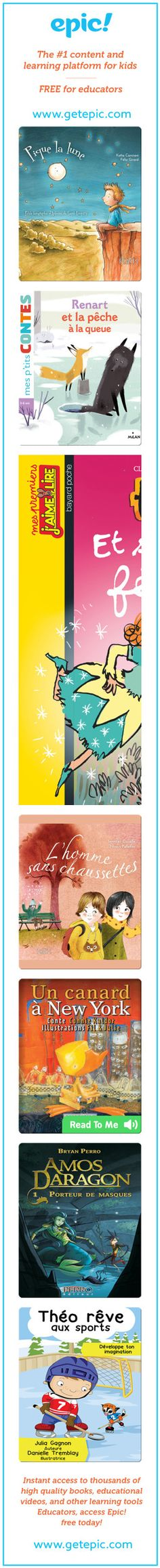 Say Bonjour to French Books! - 500 French books are now on Epic! - including picture books, chapter books, comic books, nonfiction and Read-to-Me books - all available to read in...
