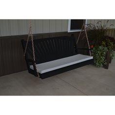 A & L Furniture Fanback Yellow Pine Fan 5ft Porch Swing