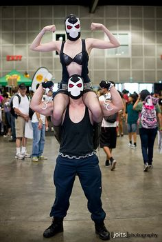 Awesomely Weird Cosplay: Mr. and Mrs. Bane at Comikaze 2012 by Joits, via Flickr