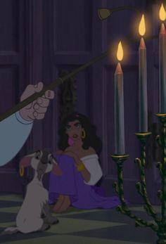 Esmeralda y Djali en Notre Dame Disney Pixar, Old Disney, Disney Films, Disney And Dreamworks, Disney Animation, Disney Characters, Animation Movies, Disney Princesses, Disney Art