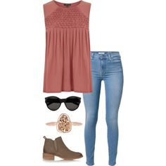detailed top by helenhudson1 on Polyvore featuring polyvore, fashion, style, Warehouse, 7 For All Mankind, Tory Burch, Kendra Scott, Yves Saint Laurent and clothing