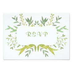 #elegant - #Modern Watercolor Wedding Custom Card