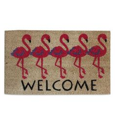 A1 Home Collections LLC Flamingo Welcome Doormat