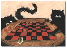 Time for Checkers by AmyLyn Bihrle black fuzzy cat peek n boo and cosmo the guinea pig