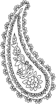 Paisley designs Coloring pages. Select from 31983 printable Coloring pages of cartoons, animals, nature, Bible and many more. Bordados Paisley, Paisley Embroidery, Embroidery Patterns Free, Hand Embroidery Designs, Embroidery Motifs, Paisley Art, Paisley Design, Paisley Pattern, Sewing Projects