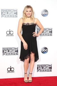 Chloë Grace Moretz in Saint Laurent Dress at 2015 American Music Awards