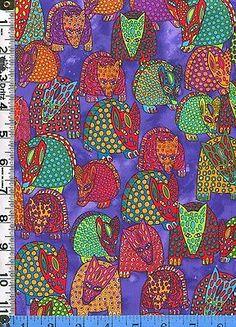 Colorful Armadillos fabric