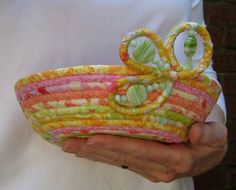 Coiled Fabric Basket - Summer Sherbert. $28,00, via Etsy.