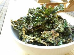 Parmesan Kale Crisps - Been looking for more kale chip ideas, and I LOVE parmesan, so can't wait to try these:)