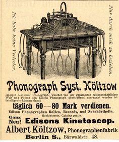 Phonograph System Költzow.