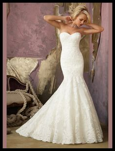 Sweetheart Mermaid Lace Wedding Dress. not a huge fan of the mermaid style but i like this one!