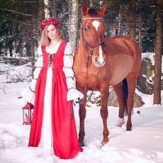 Princess and her horse by Eugenia Berg Photography