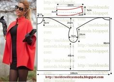 Moldes Moda por Medida: CASACO/CAPA FÁCIL DE FAZER: instructions in Portuguese but Google translate does a good job.